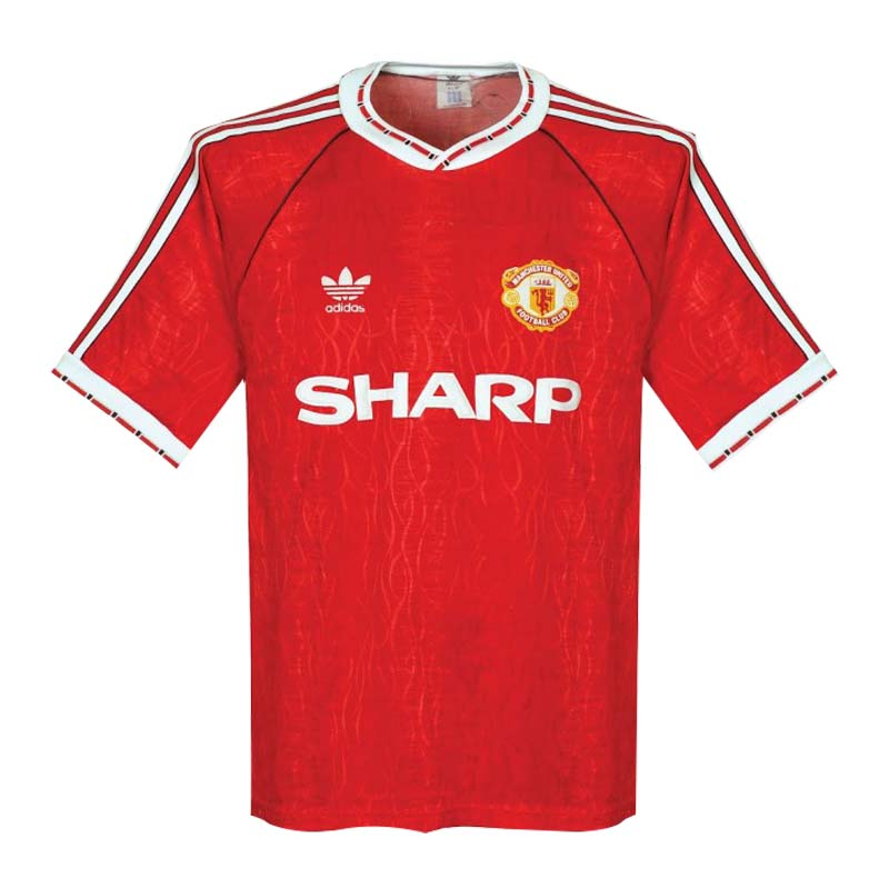 90/92 Manchester United Home Red Retro Jerseys Shirt