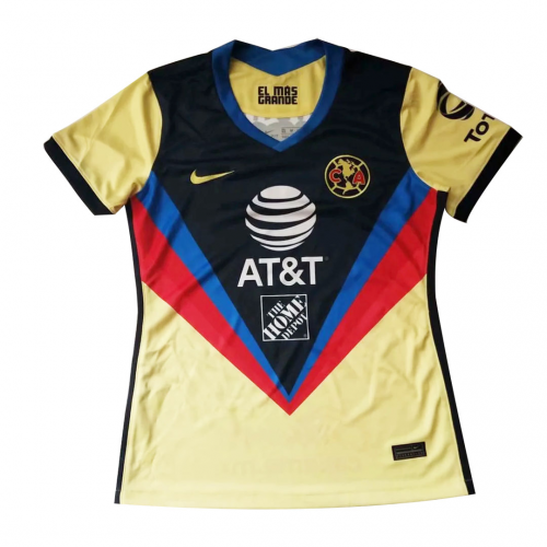 20/21 Club America Home Yellow Women's Jerseys Shirt