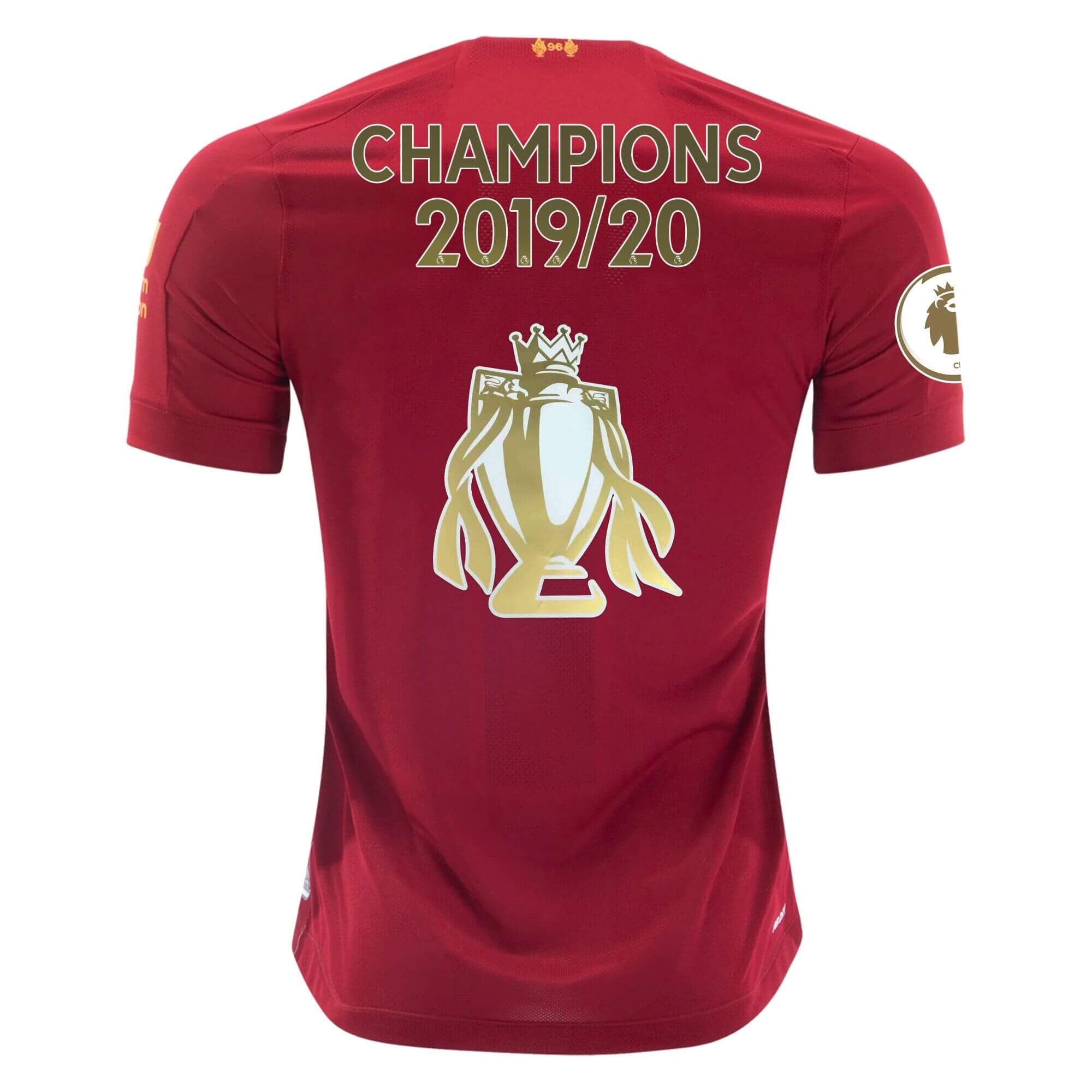 "19/20 Liverpool Home ""CHAMPIONS 2019/20+CUP"" Soccer Jerseys Shirt"