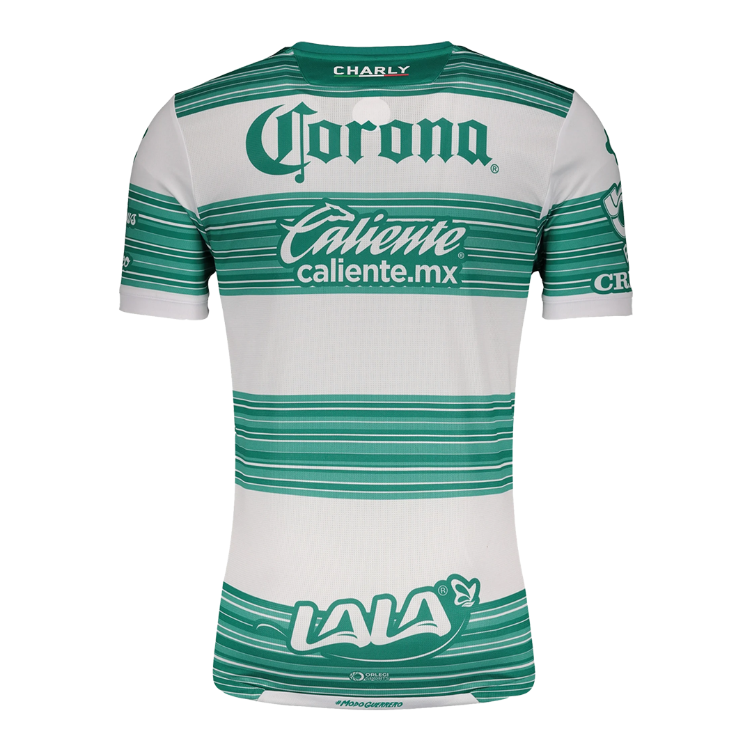 20/21 Santos Laguna Home Green&White Soccer Jerseys Shirt
