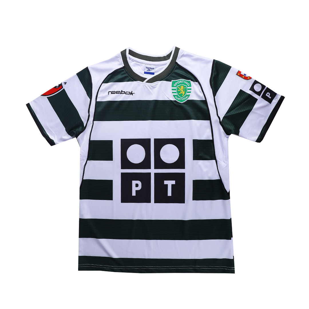 01/03 Sporting Lisbon Home Green&White Retro Soccer Jerseys Shirt