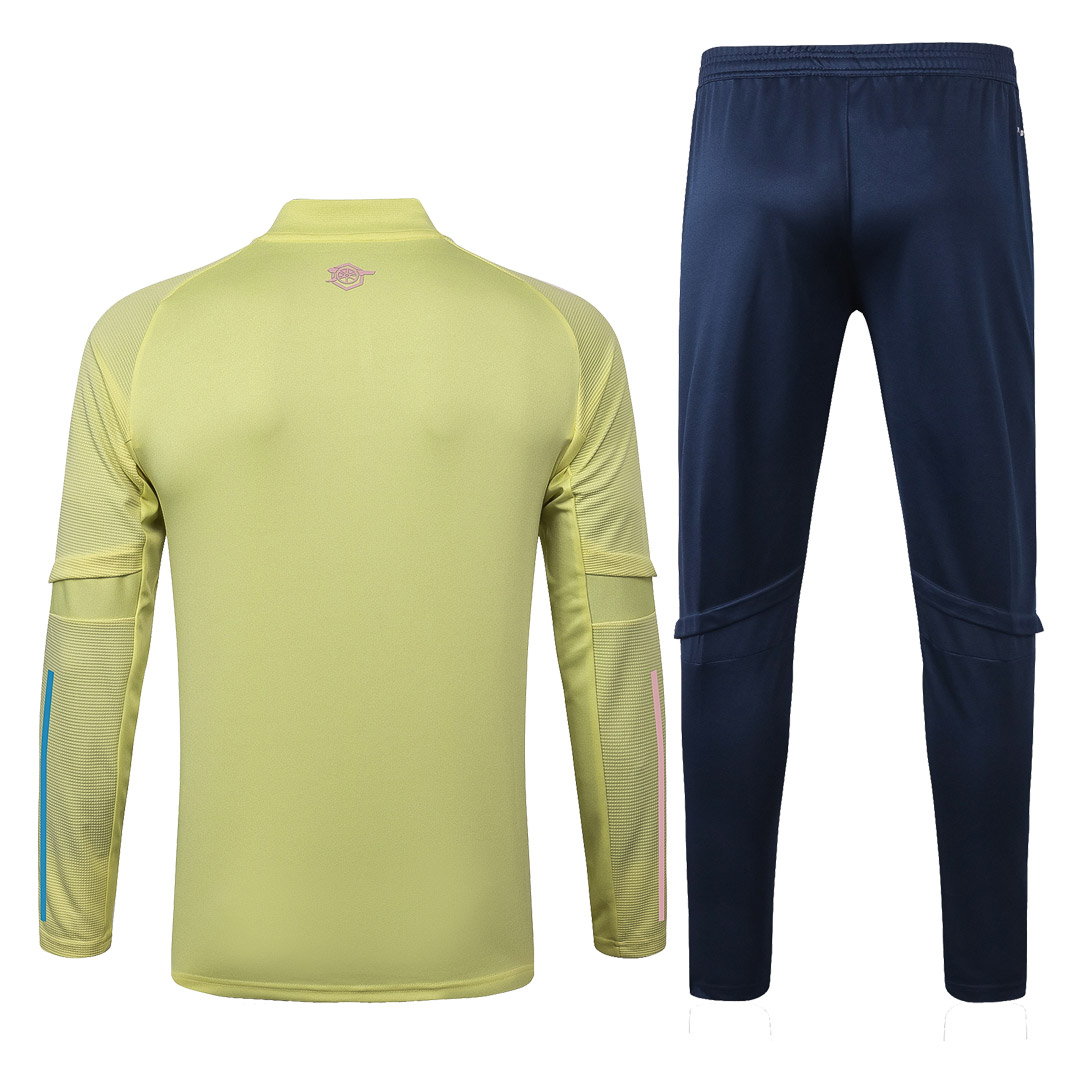 20/21 Arsenal Yellow Zipper Sweat Shirt Kit(Top+Trouser)
