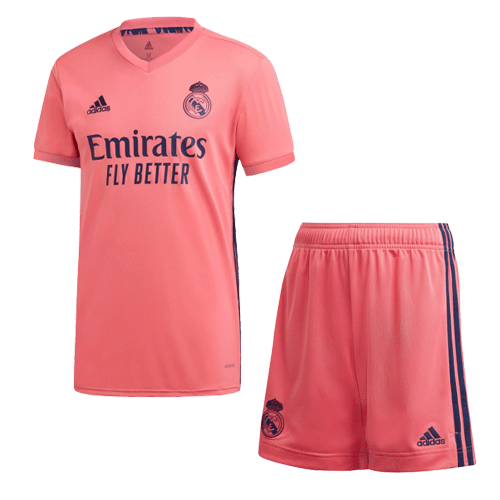 20/21 Real Madrid Away Pink Soccer Whole Kit(Shirt+Short+Socks)