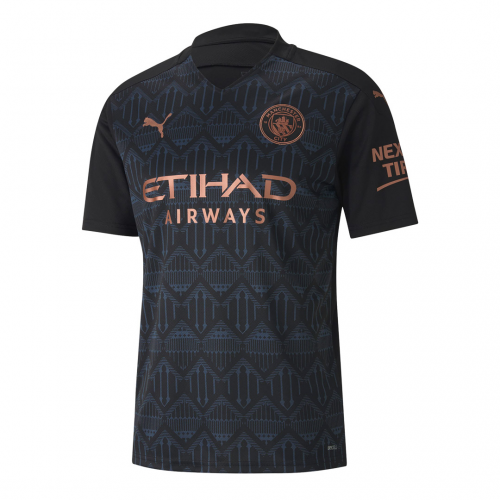 20/21 Manchester City Away Black Jerseys Whole Kit(Shirt+Short+Socks)