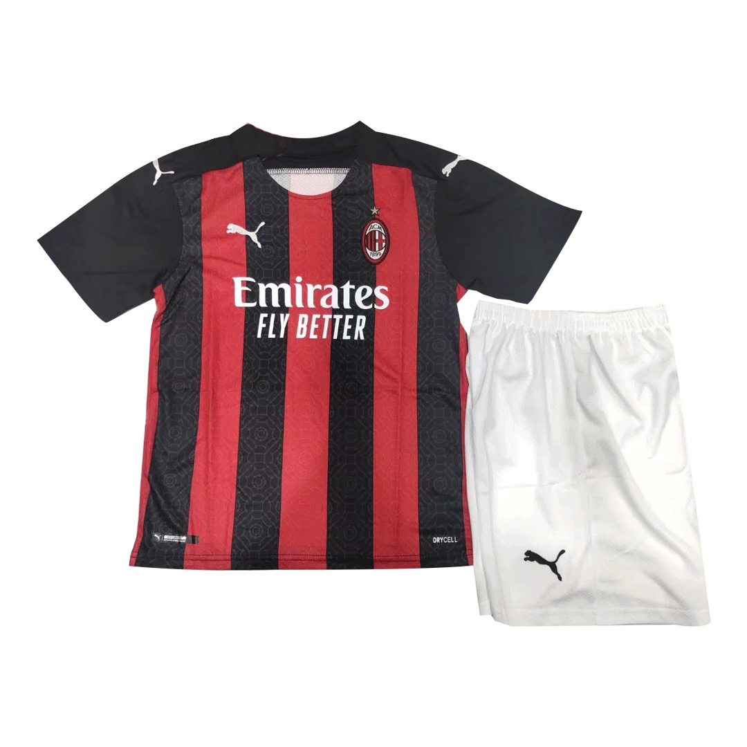 20/21 AC Milan Home Black&Red Children's Jerseys Kit(Shirt+Short)