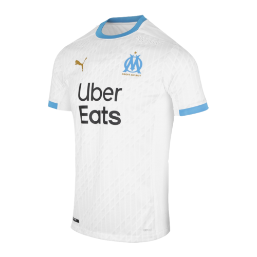 20/21 Marseille Home White Jerseys Kit(Shirt+Short)