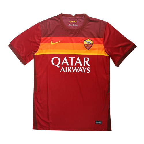 20/21 Roma Home Red Soccer Jerseys Whole Kit(Shirt+Short+Socks)