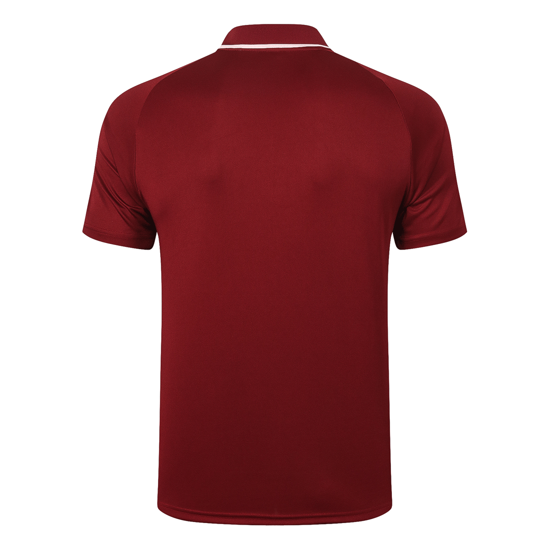 20/21 Manchester United Core Polo Shirt-Dark Red