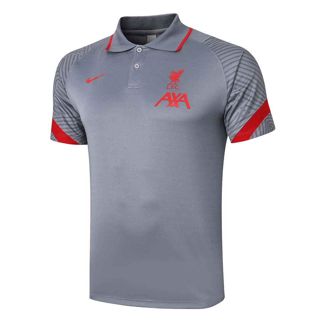 20/21 Liverpool Core Polo Shirt-Light Gray