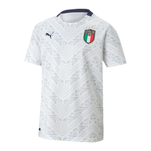 2020 Italy Away White Soccer Jerseys Kit(Shirt+Short)
