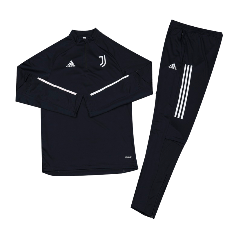 Kids 20/21 Juventus Navy Zipper Sweat Shirt Kit(Top+Trouser)