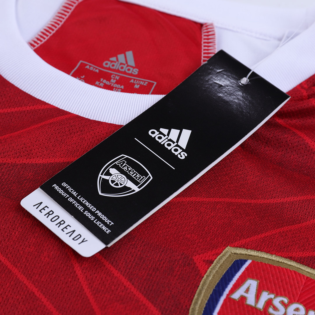 20/21 Arsenal Home Red&White Long Sleeve Soccer Jerseys Shirt