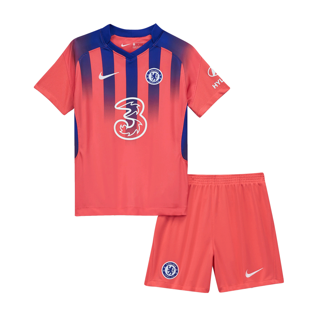 20/21 Chelsea Third Away Red Children's Jerseys Kit(Shirt+Short)