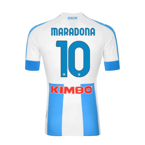 20/21 Napoli Fourth Away #10 MARADONA Blue&White Soccer Jerseys Shirt(Player Version)