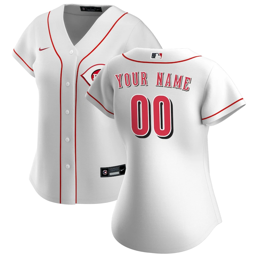 Women's Cincinnati Reds Nike White 2020 Home Replica Custom Jersey