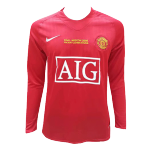 Manchester United Champion League Home Jersey Retro 2007/08 By Adidas - Long Sleeve