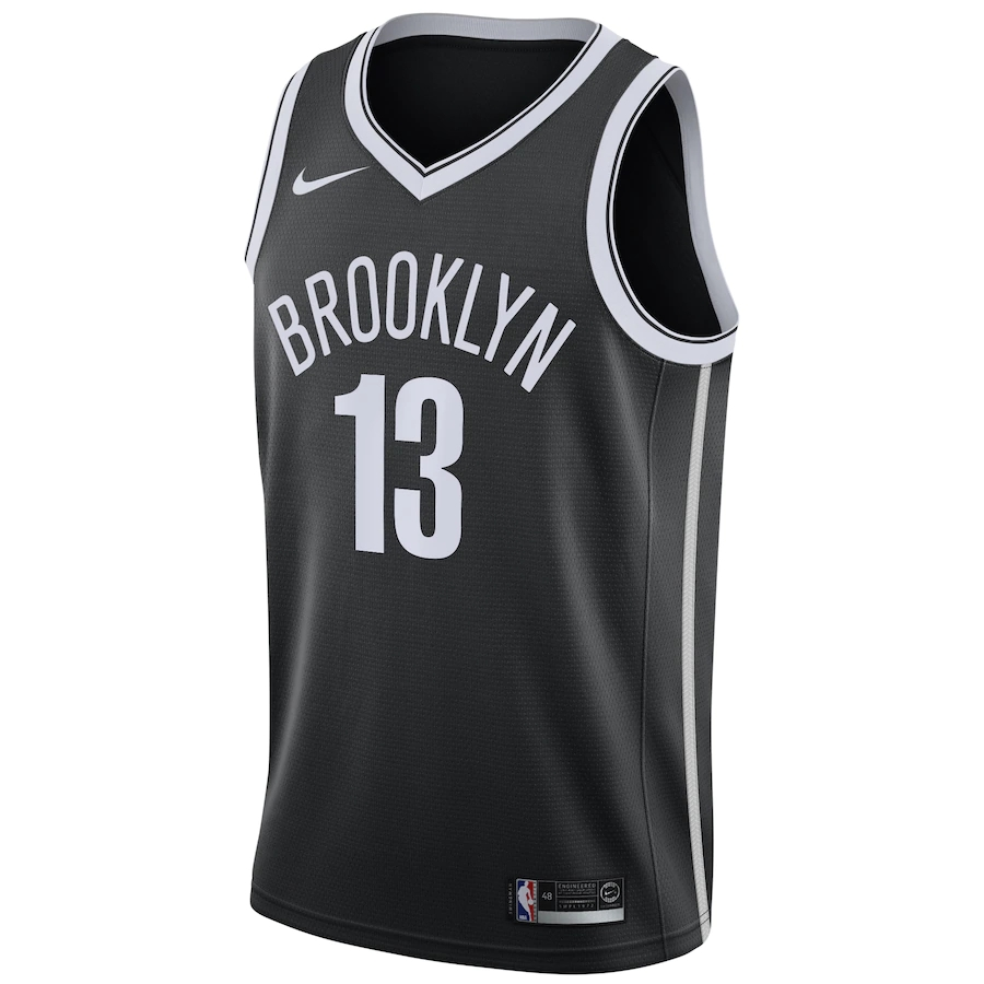 Men's Brooklyn Nets James Harden #13 Nike Black 2020/21 Swingman Jersey - Icon Edition