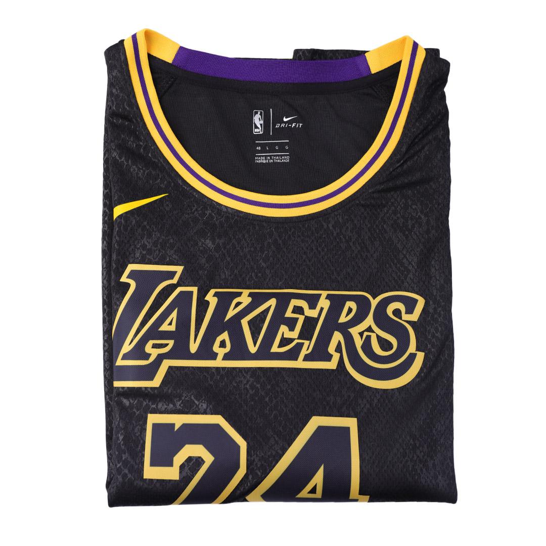 Men's Los Angeles Lakers Kobe Bryant N0.24  Black Swingman Jersey