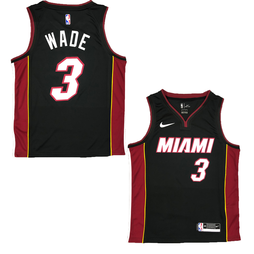Wade #3 Brooklyn Nets Swingman Black NBA Jersey By Nike - City