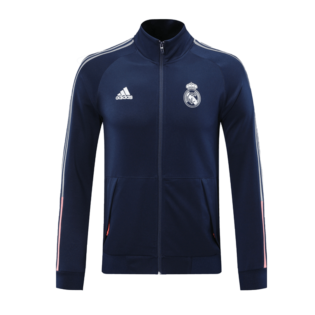 20/21 Real Madrid Navy&Red High Neck Collar Training Jacket