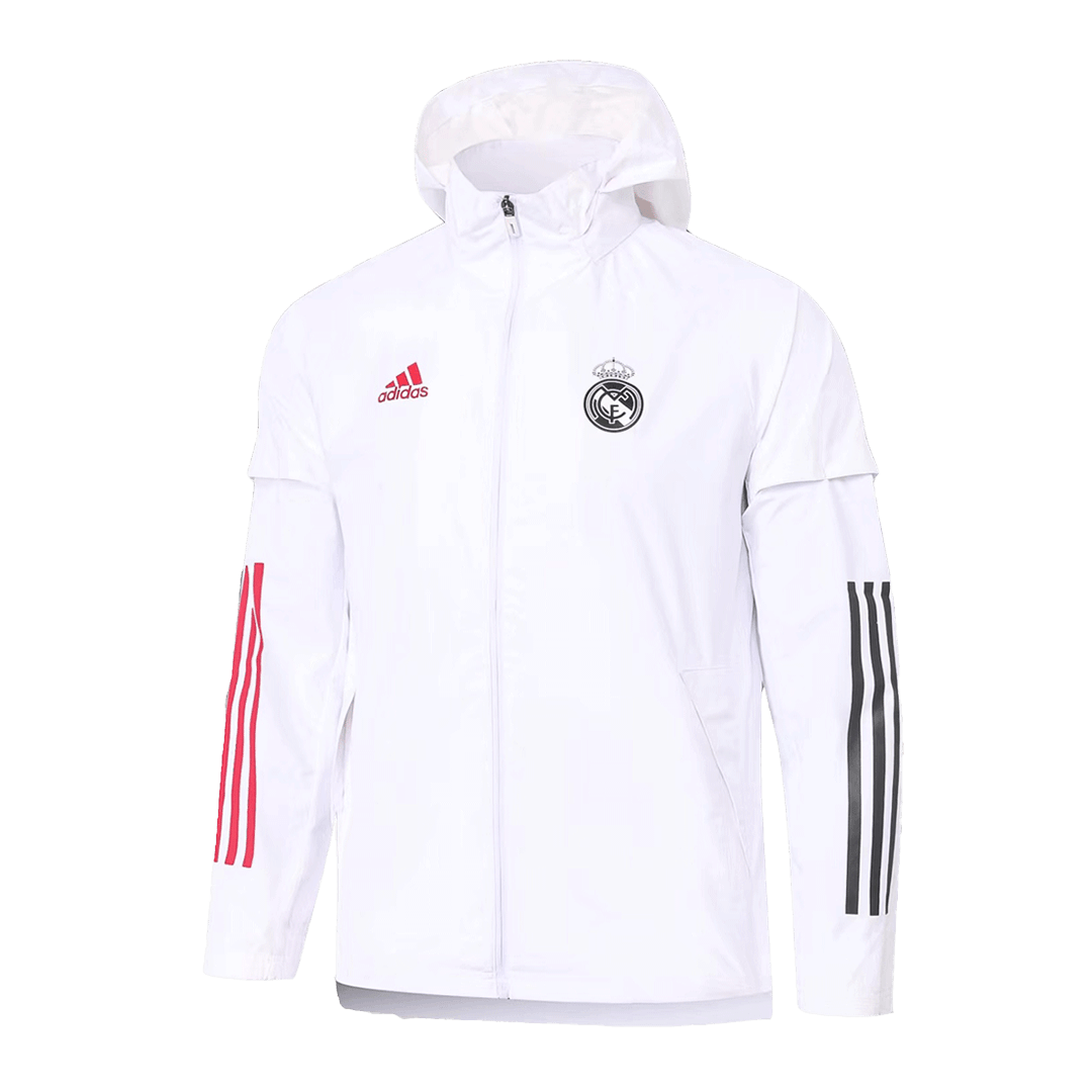 Real Madrid Windbreaker 2020/21 By Adidas - White&Pink
