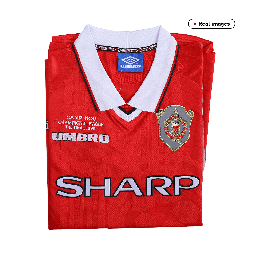 Manchester United Home Jersey Retro 1999/00 By Umbro