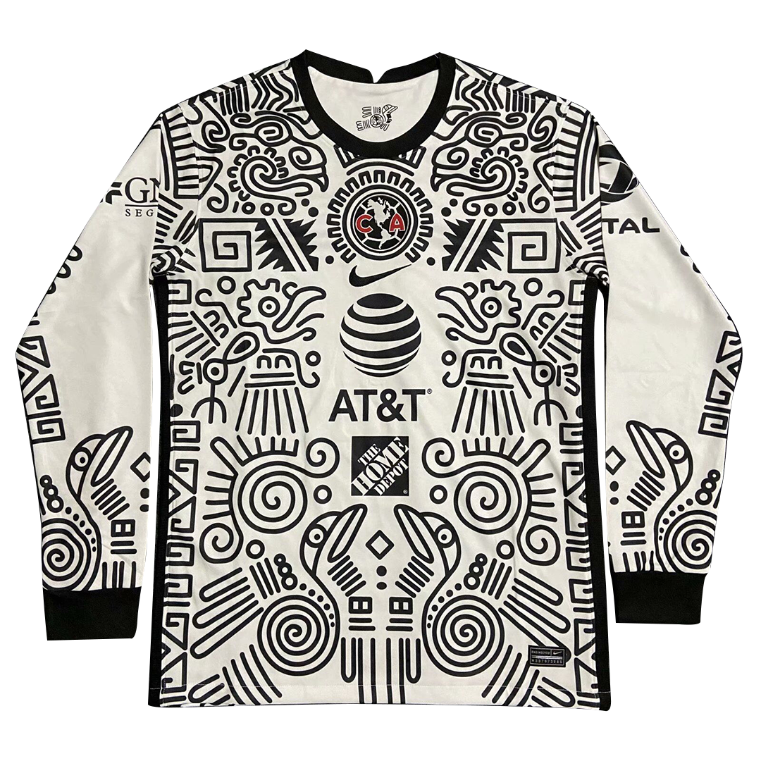 Club America Aguilas Third Away Jersey 2021 By Nike - Long Sleeve