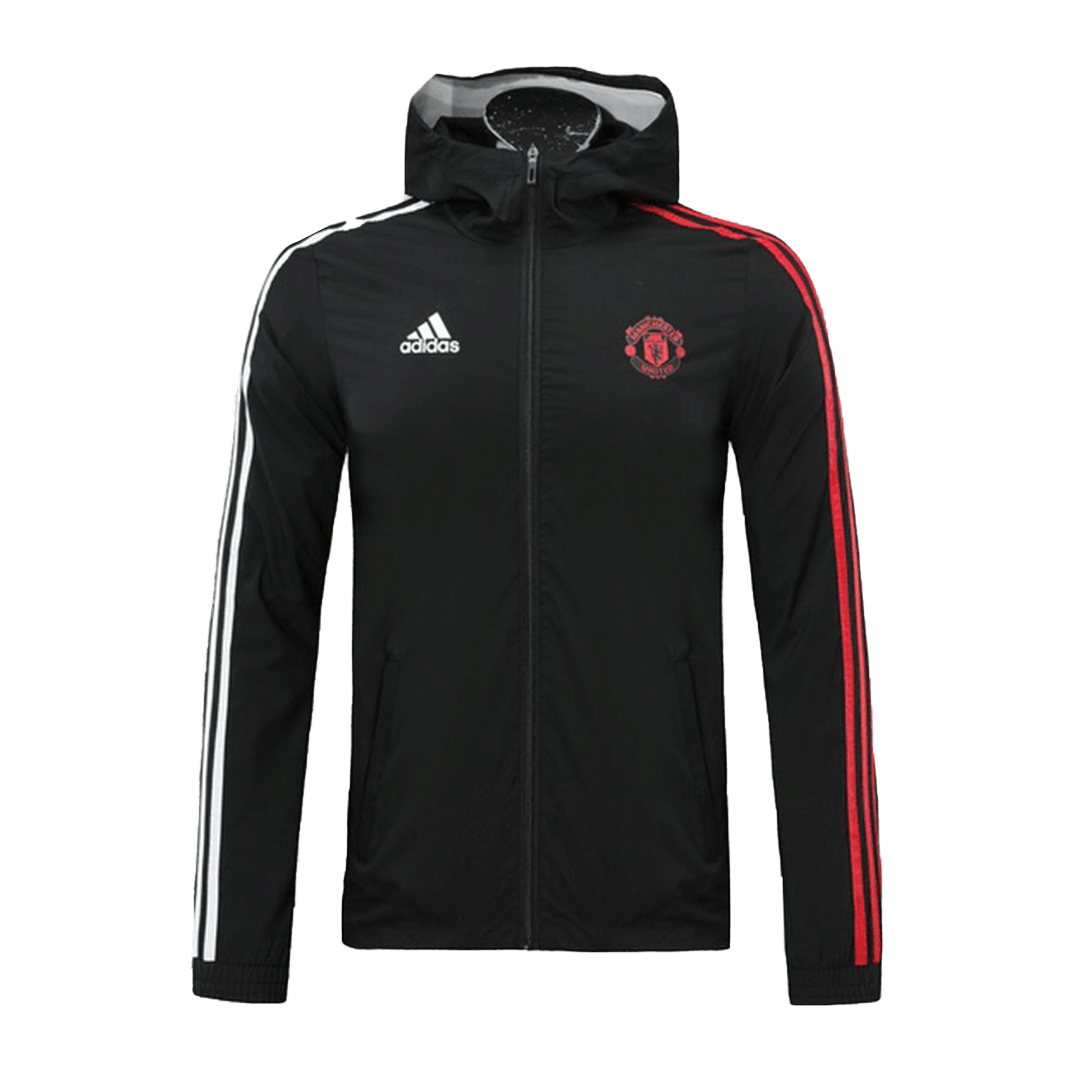 Manchester United Windbreaker 2020/21 By Adidas - Black&Red&White