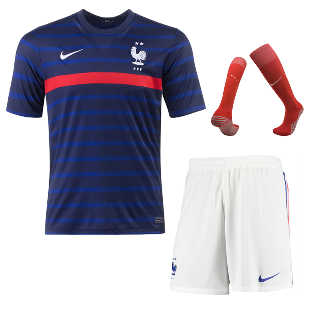 2020 France Home Red Jerseys Whole Kit(Shirt+Short+Socks)