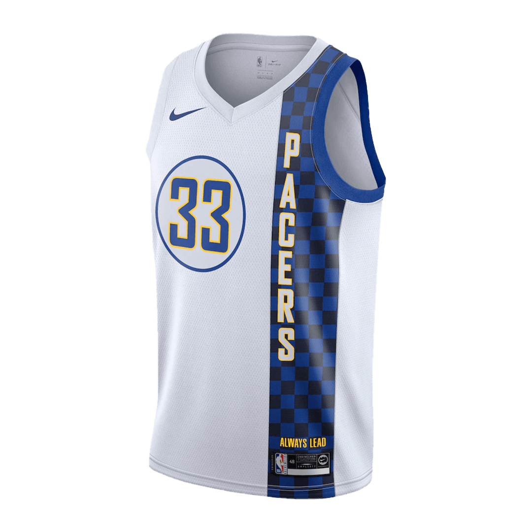 Myles Turner #33 Indiana Pacers Swingman White NBA Jersey 2019/20 By Nike - City