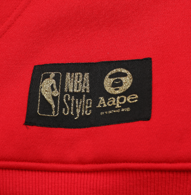 Chicago Bulls Hoody Sweater By AAPE - Red