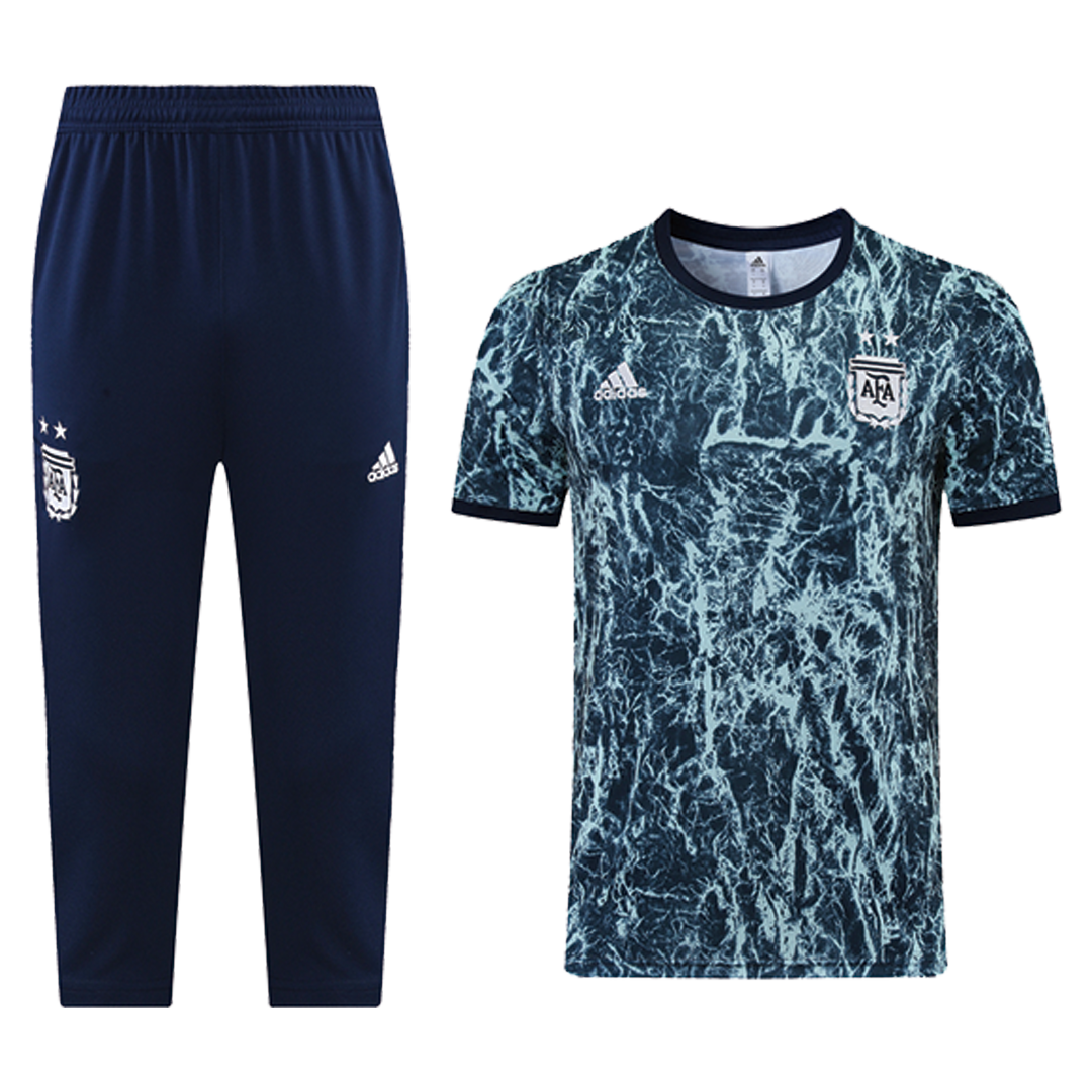 Argentina Traning Kit(Jersey+3/4 Pants) 2021/22 By Adidas - Blue