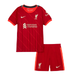 Liverpool Home Jersey Kit 2021/22 By Nike - Youth