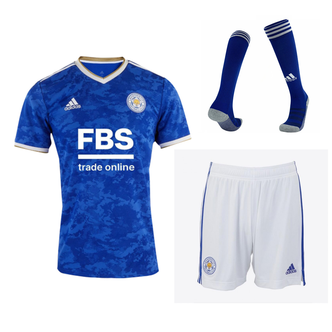 Leicester City Home Jersey Kit 2021/22 By Adidas