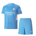 Manchester City Home Jersey Kit 2021/22 By Puma - Blue