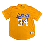 Los Angeles Lakers Shaquille O'Neal #34 Mitchell&Ness Yellow Mesh Top