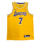 Carmelo Anthony #7 Los Angeles Lakers Swingman Gold NBA Jersey By Nike - Icon
