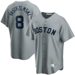 Men's Boston Red Sox Carl Yastrzemski #8 Road Cooperstown Collection MLB Jersey