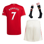 RONALDO #7 Manchester United Home Jersey Kit 2021/22 By Adidas