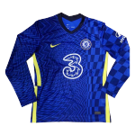 Chelsea Home Jersey 2021/22 By Nike - Long Sleeve