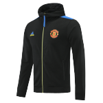 Manchester United Hoodie Jacket 2021/22 By Adidas - Black