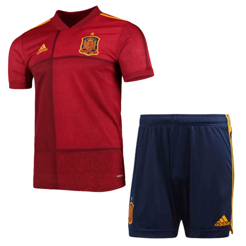 2020 Spain Home Red Soccer Jerseys Kit(Shirt+Short)